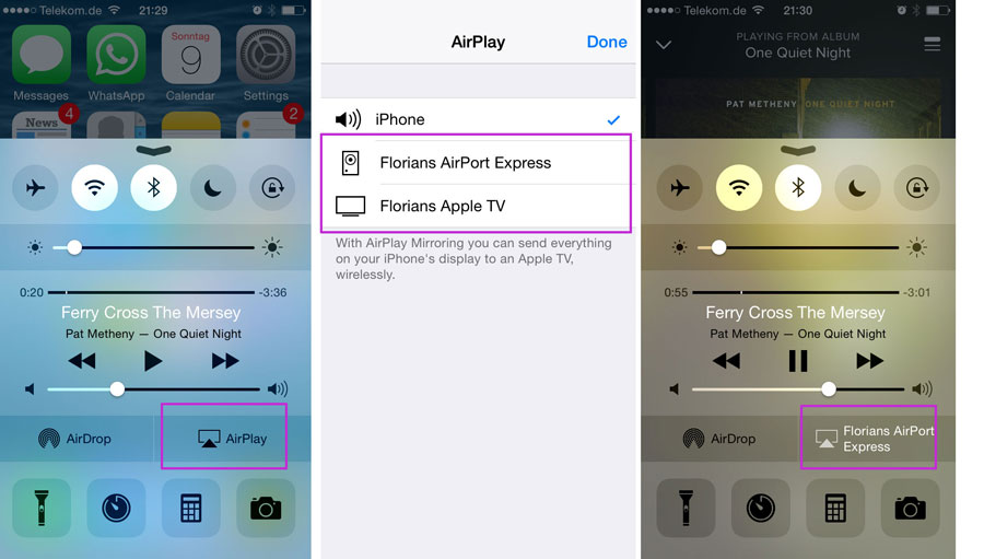 How to stream video from iphone to apple tv
